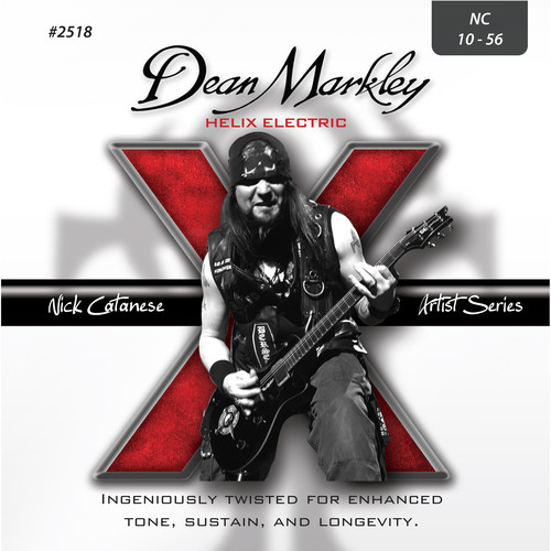 Dean Markley 2518 Nick Catanese Signature Helix Electric Guitar Strings (6-String Set, 10 - 56)