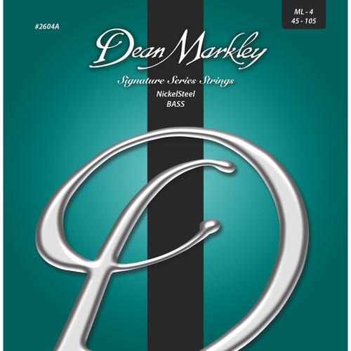 Dean Markley 2604A Signature Series NickelSteel Bass Guitar Strings (4-String Set, 45-105)
