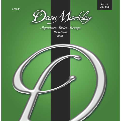 Dean Markley 2604B Signature Series NickelSteel Bass Guitar Strings (5-String Set, 45-128)