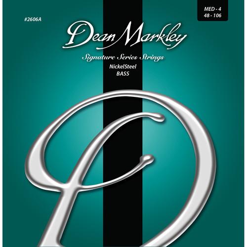 Dean Markley 2606A Signature Series NickelSteel Bass Guitar Strings (4-String Set, 48-106)