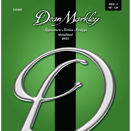 Dean Markley 2606B Signature Series NickelSteel Bass Guitar Strings (5-String Set, 48-128)