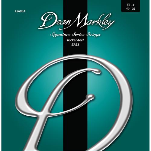 Dean Markley 2608A Signature Series NickelSteel Bass Guitar Strings (4-String Set, 40-95)