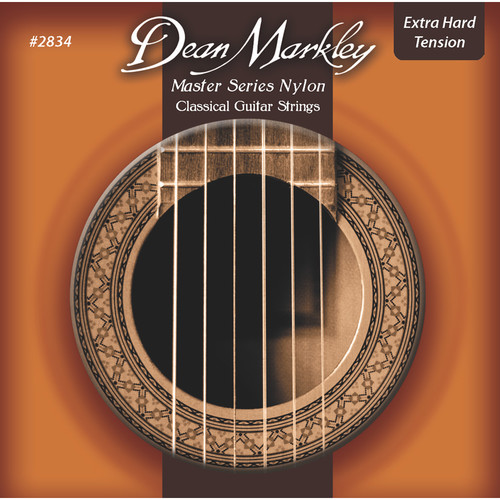 Dean Markley 2834 Master Series Classical Guitar Strings (Extra Hard Tension, 6-String Set)