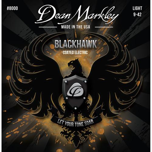 Dean Markley DM 8000 LT Blackhawk Series Coated Electric Guitar Strings (6-String Set, 9-42)