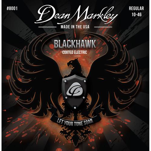 Dean Markley DM 8001 REG Blackhawk Series Coated Electric Guitar Strings (6-String Set, 10-46)