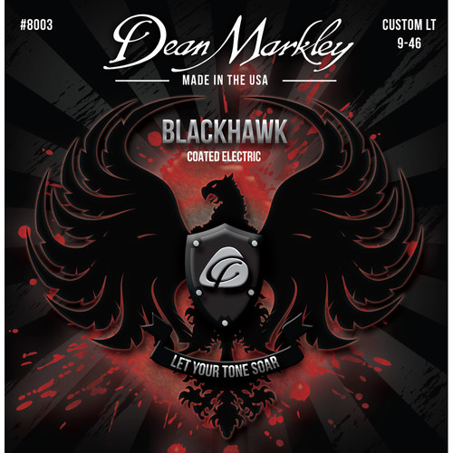 Dean Markley DM 8002 LTHB Blackhawk Series Coated Electric Guitar Strings (6-String Set, 10-52)