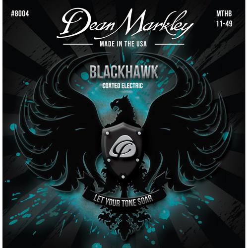 Dean Markley DM 8004 MED Blackhawk Series Coated Electric Guitar Strings (6-String Set, 11-52)