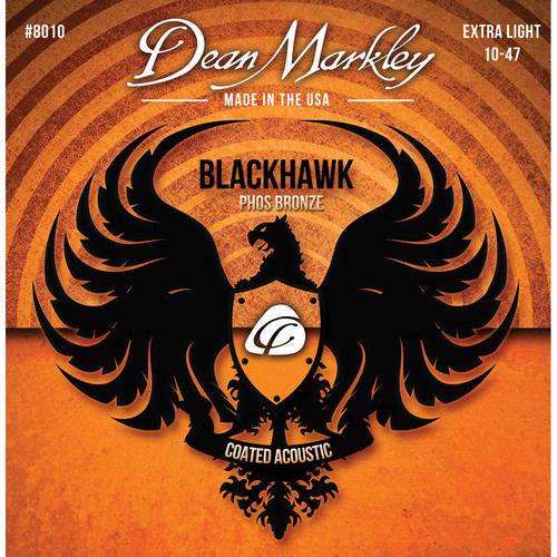 Dean Markley Blackhawk 8010 XL Coated Phos Bronze Acoustic Guitar Strings (6-String Set, 10-47)