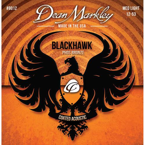 Dean Markley Blackhawk 8012 MED LT Coated Phos Bronze Acoustic Guitar Strings (6-String Set, 13-53)