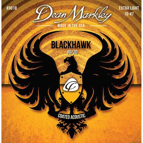 Dean Markley Blackhawk 8018 Extra Light Coated 80/20 Bronze Acoustic Guitar Strings (6-String Set, 10-47)