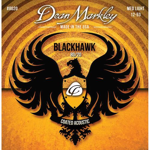 Dean Markley Blackhawk 8020 Medium Light Coated 80/20 Bronze Acoustic Guitar Strings (6-String Set, 12-53)