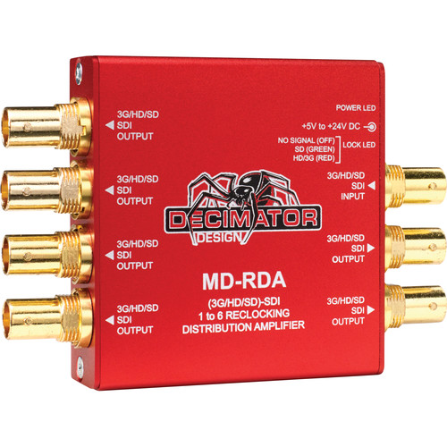 DECIMATOR MD-RDA Mini (3G/HD/SD) SDI 1 To 6 Relocking Distribution Amplifier