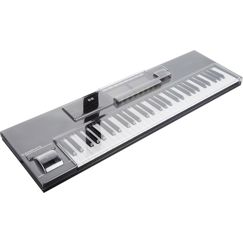 Decksaver Cover for Native Instruments Kontrol S61 MK2 Keyboard Controller (Smoked/Clear)