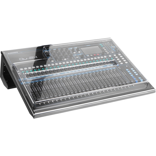 Decksaver Cover for Allen & Heath QU-24 Mixer (Smoked/Clear)