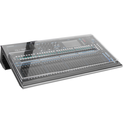 Decksaver Cover for Allen & Heath QU-32 Mixer (Smoked/Clear)