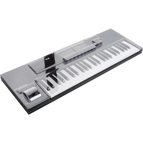 Decksaver Cover for Native Instruments Kontrol S49 MK2 Keyboard Controller (Smoked/Clear)