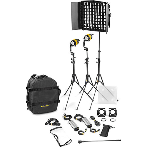 Dedolight DLED4.1/Felloni 2x1 Bi-Color 3-Light Basic Kit (Mains Operation)