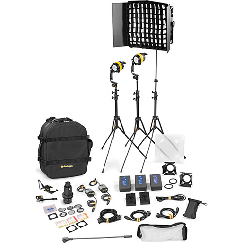 Dedolight DLED4.1/Felloni 2x1 Bi-Color 3-Light Battery Kit (Battery Operation)