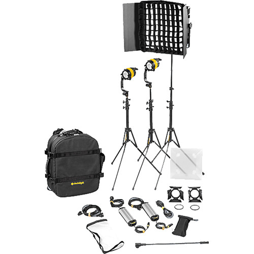 Dedolight DLED4.1/Felloni 2x1 Daylight 3-Light Basic Kit (Mains Operation)