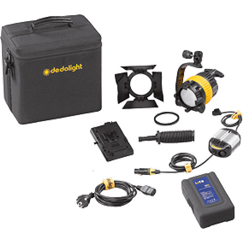 Dedolight DLED4-BI Bi-Color LED Basic 1-Light Kit (Battery Operation)