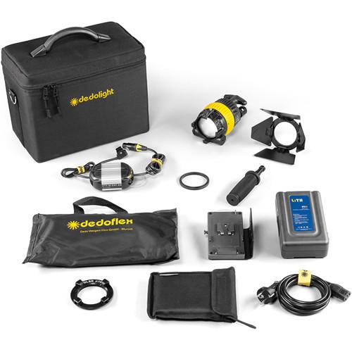 Dedolight DLED4-BI Bi-Color LED Master 1-Light Kit (Battery Operation)