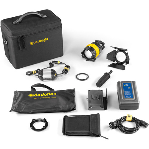 Dedolight DLED4-D Daylight LED Master 1-Light Kit (Battery Operation)