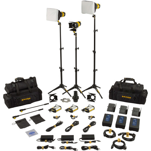 Dedolight DLED3 TURBO 3-Light Master Daylight Kit
