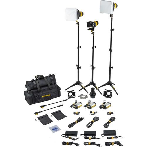 Dedolight DLED3 TURBO 3-Light Standard Daylight Kit