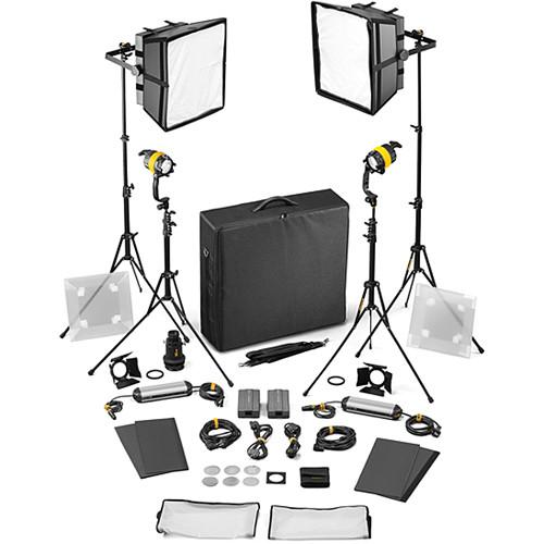 Dedolight DLED4/Felloni 2x2 Bi-Color 4-Light Basic Kit (Mains Operation)