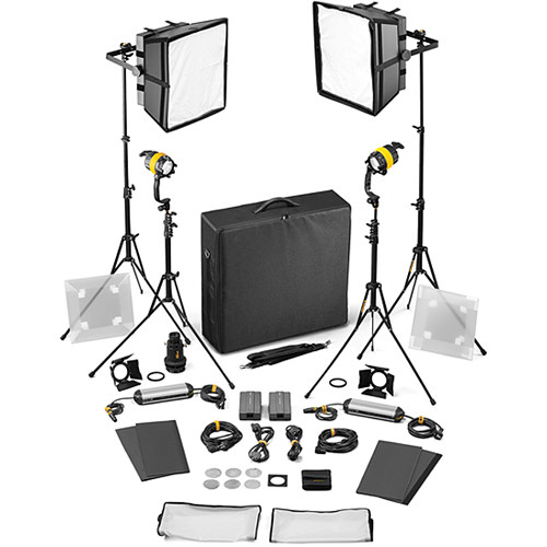 Dedolight DLED4/Felloni 2x2 Daylight 4-Light Basic Kit (Mains Operation)