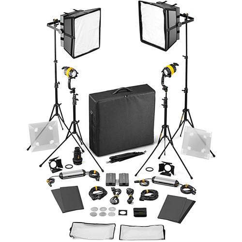 Dedolight DLED4/Felloni 2x2 Daylight 4-Light Basic Kit (Mains Operation)