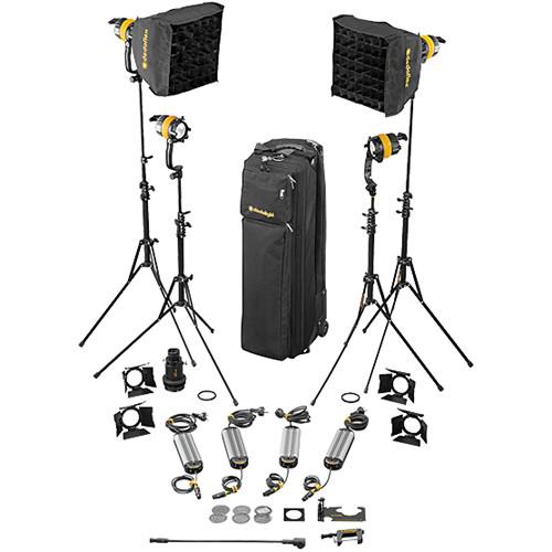 Dedolight DLED4-D Daylight LED 4-Light Basic Kit (Mains Operation)