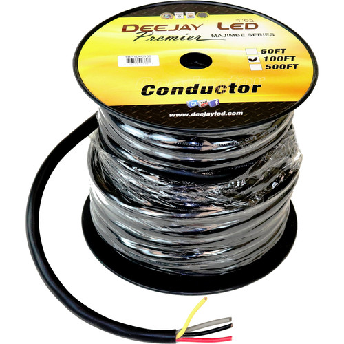DeeJay LED 10 AWG 4-Conductor Cable (100')