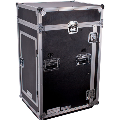 DeeJay LED 11 RU Slant Mixer Rack / 16 RU Vertical Rack System with Caster Board and Table