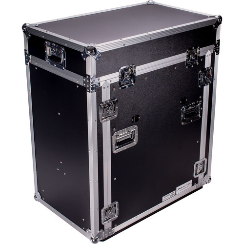 DeeJay LED 14 RU Slant Mixer Rack / 16 RU Vertical Rack System with Caster Board and Table