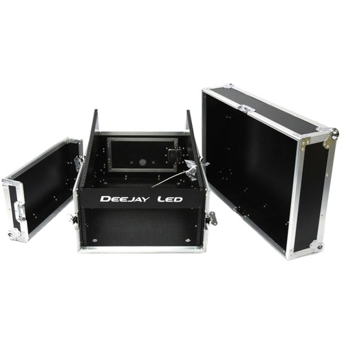 DeeJay LED Slant Mixer Rack with 4 RU Top Section (14 RU)