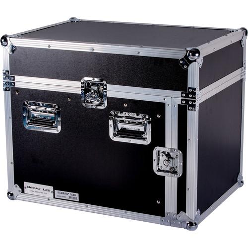 DeeJay LED 14 RU Slant Mixer Rack / 8 RU Vertical Rack System with Full AC Door