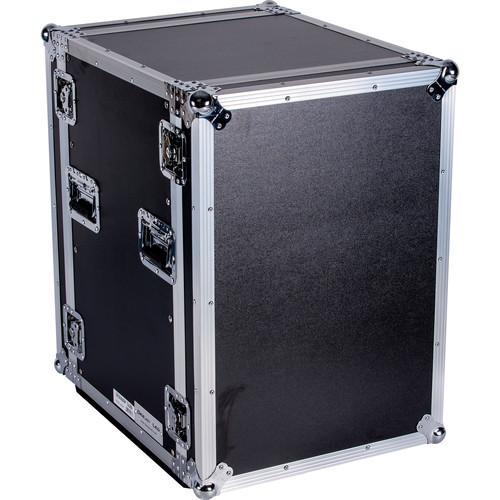 """DeeJay LED 16 RU Shock Mount Amplifier Deluxe Case (21"""" Deep)"""