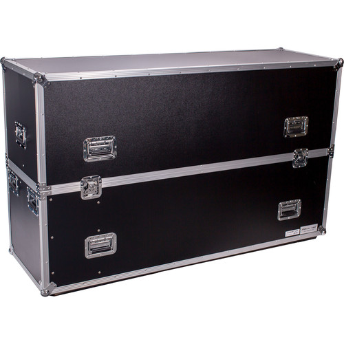 "DeeJay LED Road Case for Two 63"" LED TVs"