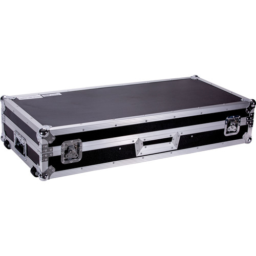 DeeJay LED Fly Drive DJ Coffin Case for Two Turntables in Battle Style Position and One Pioneer DJM900 Nexus