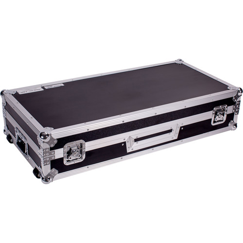 DeeJay LED Fly Drive DJ Coffin Case for Two Turntables in Battle Style Position and One Rane Sixty-One Mixer