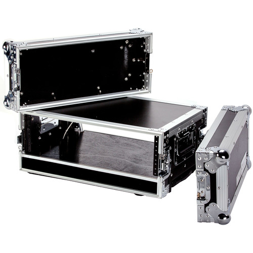 """DeeJay LED 3 RU Effect Deluxe Case with Pull-Out Handle and Wheels (14"""" Deep)"""