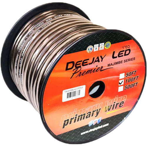 DeeJay LED 4 Gauge Power Cable/Wire - 100' (Black)