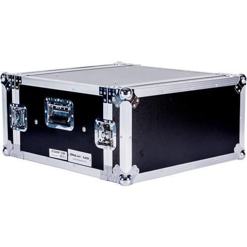 """DeeJay LED 4 RU Shock Mount Amplifier Deluxe Case (21"""" Deep)"""
