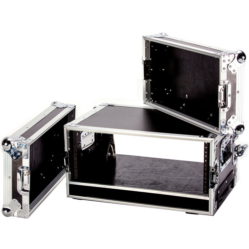 """DeeJay LED 4 RU Effect Deluxe Case with Pull-Out Handle and Wheels (14"""" Deep)"""