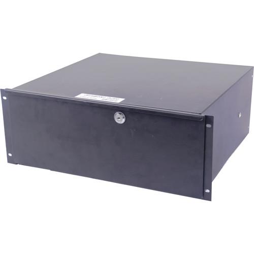 DeeJay LED 4 RU Metal Locking Rack Drawer