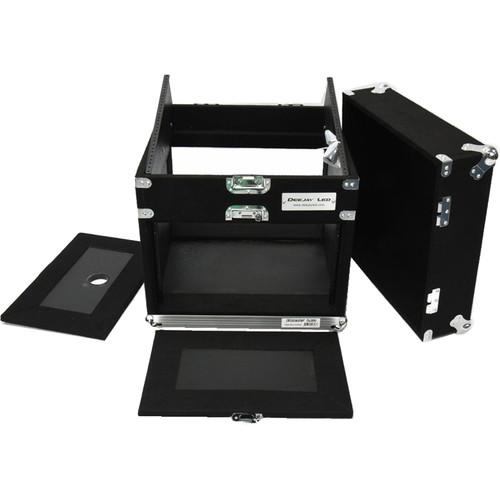 DeeJay LED Slant Rack Drive Tour Case (6 RU for Amplifier, 10 RU for Mixer)