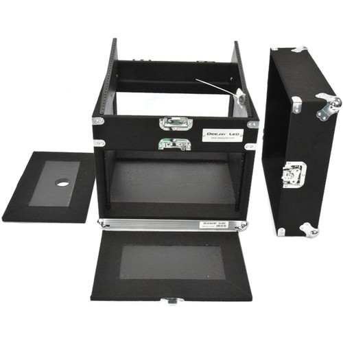 DeeJay LED Fly Drive Slant Rack Case (8 RU for Amplifier, 10 RU for Mixer)