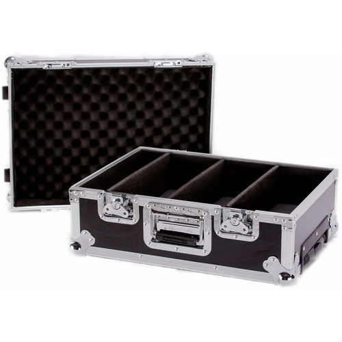 DeeJay LED Deluxe CD Case with Wheels for 100 Jewel Case CD's