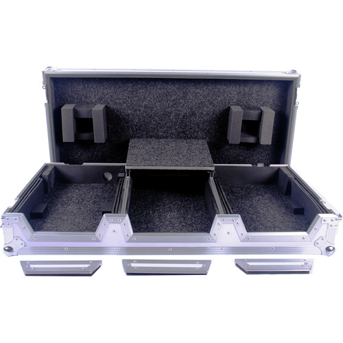 DeeJay LED Case for Pioneer CDJ Multi-Player and DJMS9 Mixer with Laptop Shelf (White)